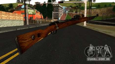 Mauser 98K from Wolfenstein 2009 para GTA San Andreas segunda tela