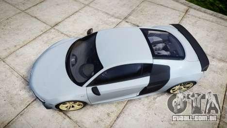 Audi R8 competition 2015 [EPM] para GTA 4 vista direita