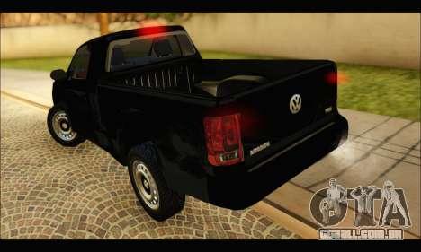 Volkswagen Amarok Cabina Simple para GTA San Andreas traseira esquerda vista
