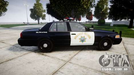Ford Crown Victoria Highway Patrol [ELS] Vision para GTA 4 esquerda vista