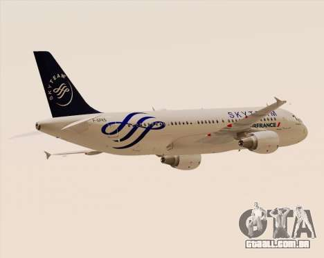 Airbus A320-200 Air France Skyteam Livery para GTA San Andreas vista traseira
