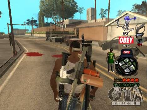 C-HUD Sweet para GTA San Andreas por diante tela