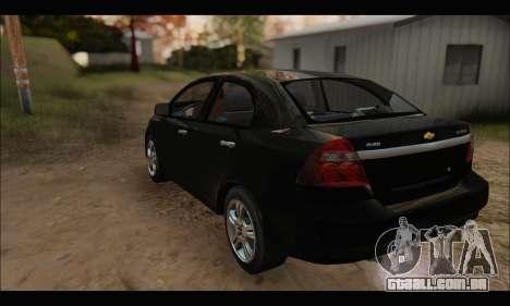 Chevrolet Aveo LT 2010 para GTA San Andreas vista traseira