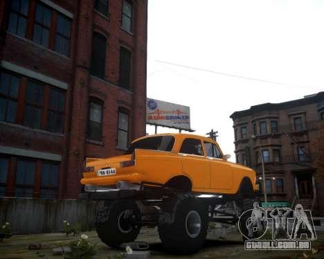 Moskvich 412 Monstro para GTA 4 traseira esquerda vista