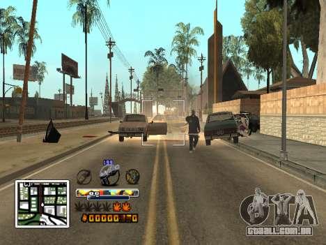 C-HUD Cor (melhor) para GTA San Andreas por diante tela