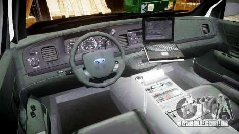 Ford Crown Victoria 2008 LCPD [ELS] para GTA 4 vista de volta