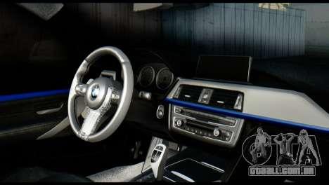 BMW 4-Series Coupe M Sport 2014 para GTA San Andreas traseira esquerda vista
