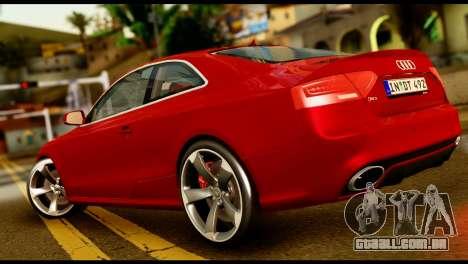 Audi RS5 2013 para GTA San Andreas esquerda vista