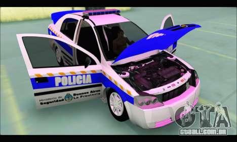 Chevrolet Astra Policia Vial Bonaerense para GTA San Andreas vista direita
