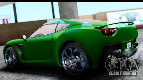 GTA 5 Grotti Carbonizzare v3 SA Mobile para GTA San Andreas esquerda vista