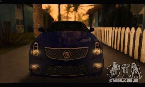 Cadillac CTS-V Coupe para GTA San Andreas vista interior