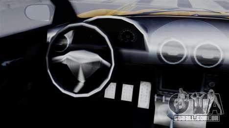 GTA 5 Dewbauchee Massacro Racecar SA Mobile para GTA San Andreas traseira esquerda vista