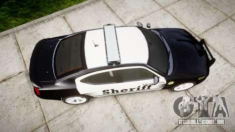 Dodge Charger SRT8 2010 Sheriff [ELS] rambar para GTA 4 vista direita