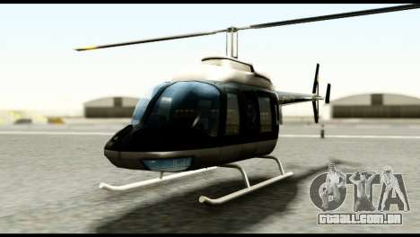 Beta Police Maverick para GTA San Andreas vista direita