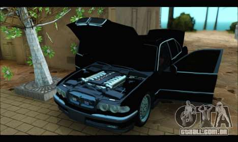 BMW 750iL para GTA San Andreas vista interior