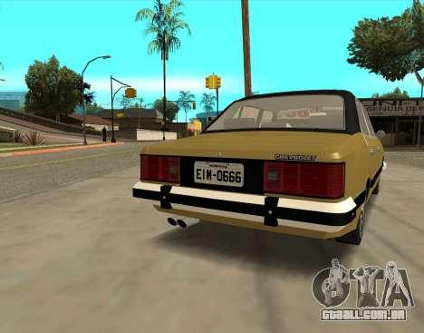 Chevrolet Opala 1980 para GTA San Andreas traseira esquerda vista
