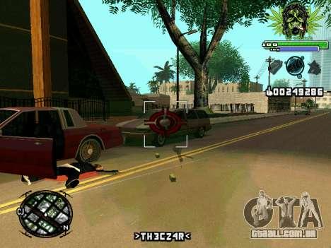 C-HUD Marihaus para GTA San Andreas por diante tela