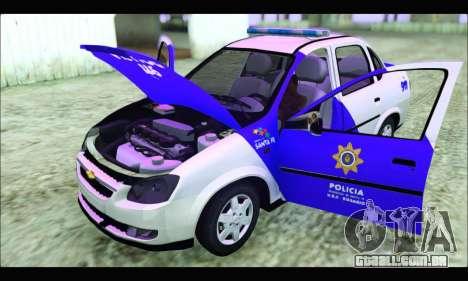 Chevrolet Corsa Classic Policia de Santa Fe para GTA San Andreas vista direita