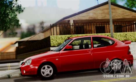 Lada Priora Sport para GTA San Andreas traseira esquerda vista