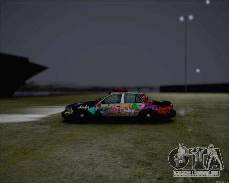 Ford Crown Victoria Ghetto Style para GTA San Andreas traseira esquerda vista
