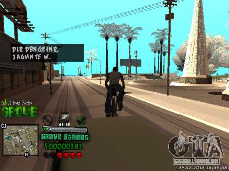 C-HUD Grove Street para GTA San Andreas décima primeira imagem de tela