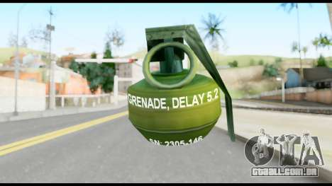 MGS1-2 Grenade from Metal Gear Solid para GTA San Andreas segunda tela