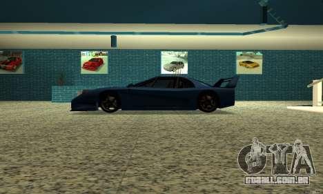 HD Turismo para GTA San Andreas esquerda vista