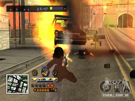 C-HUD Cor (melhor) para GTA San Andreas terceira tela