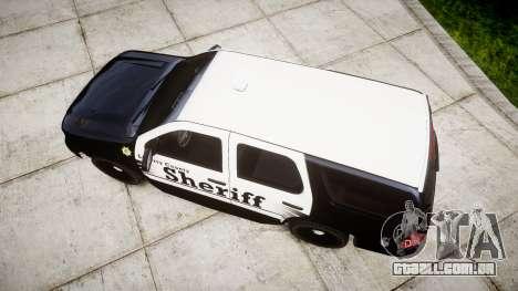 Chevrolet Tahoe 2013 County Sheriff [ELS] para GTA 4 vista direita