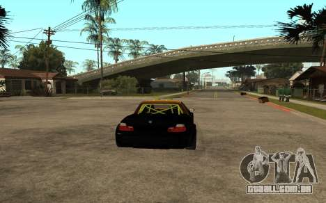 BMW M3 para GTA San Andreas traseira esquerda vista