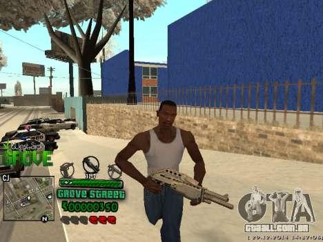 C-HUD Grove Street para GTA San Andreas segunda tela