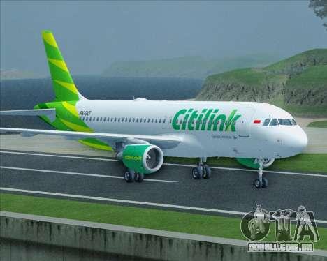 Airbus A320-200 Citilink para vista lateral GTA San Andreas