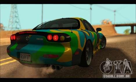 Mazda RX-7 Camo para GTA San Andreas traseira esquerda vista