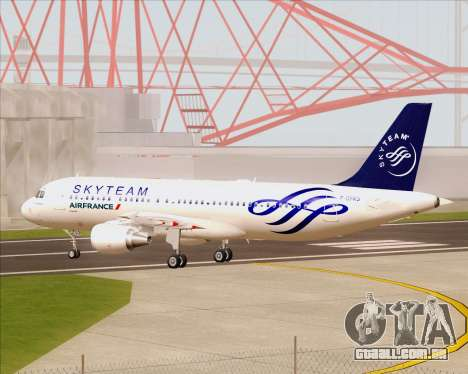 Airbus A320-200 Air France Skyteam Livery para GTA San Andreas vista interior