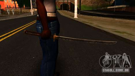 Katana from Shadow Warrior para GTA San Andreas terceira tela
