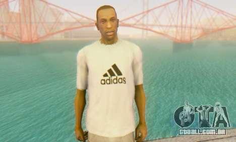 Adidas Shirt White para GTA San Andreas