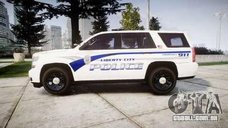 Chevrolet Tahoe 2015 LCPD [ELS] para GTA 4 esquerda vista