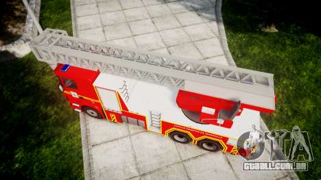 Scania R580 Marseille Fireladder [ELS] para GTA 4 vista direita