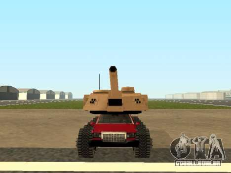 Tink Tank para GTA San Andreas traseira esquerda vista