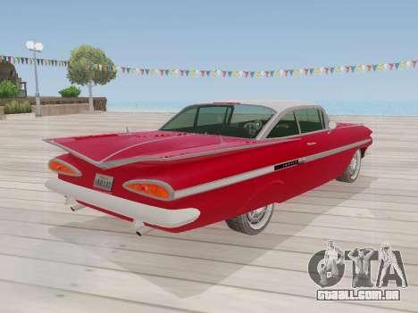 Chevrolet Impala 1959 para GTA San Andreas vista interior