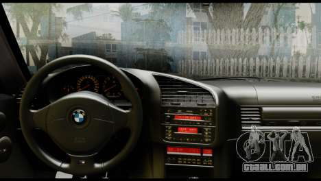 BMW M3 E36 Camo Drift para GTA San Andreas traseira esquerda vista