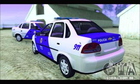 Chevrolet Corsa Classic Policia de Santa Fe para GTA San Andreas esquerda vista