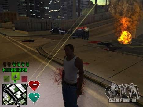 C-HUD Classic v4.1 para GTA San Andreas quinto tela