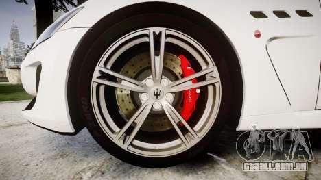 Maserati GranTurismo MC Stradale para GTA 4 vista de volta