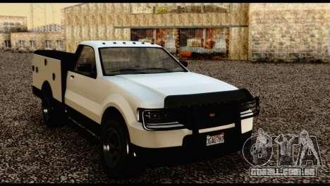 Utility Van from GTA 5 para GTA San Andreas vista traseira
