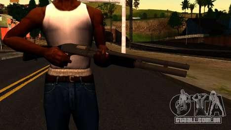 Preto MP-133 Prata para GTA San Andreas terceira tela