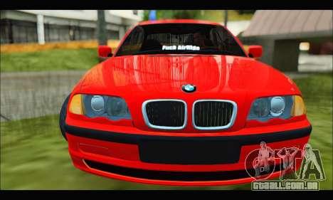 BMW e46 Sedan V2 para GTA San Andreas esquerda vista