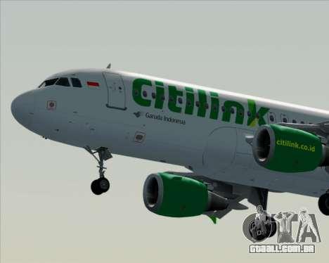 Airbus A320-200 Citilink para GTA San Andreas vista inferior