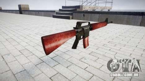 O M16A2 rifle vermelho para GTA 4 segundo screenshot