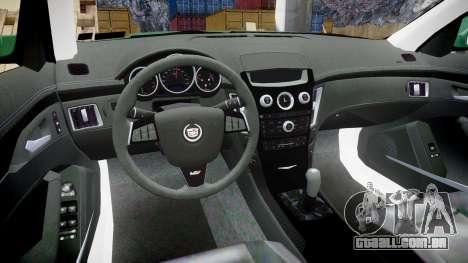 Cadillac CTS-V 2010 para GTA 4 vista de volta